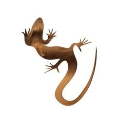 Beautiful sand lizard lizard silhouette vector