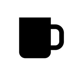 black coffee cup icon vector image