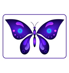 Butterfly beauty colorful sign neon 1 vector image vector image
