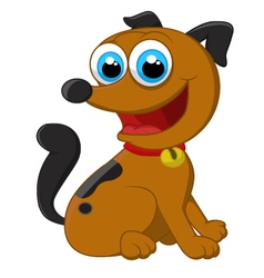 Cartoon adorable dog sitting vector image vector image