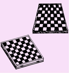 Chess board checkers board vector
