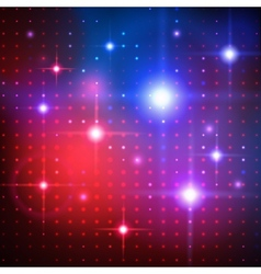 Disco lights background vector image vector image