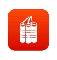dynamite sticks icon digital red vector image