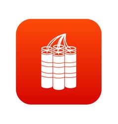 dynamite sticks icon digital red vector image