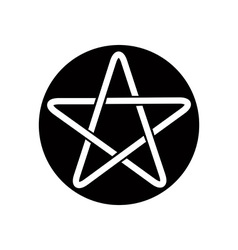 Five point star icon vector