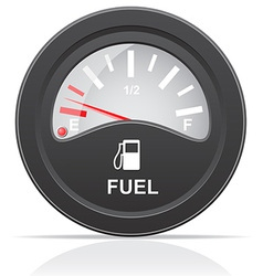 Fuel level indicator vector