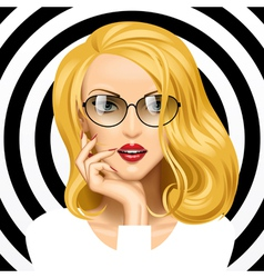Girl with blonde hair vector image