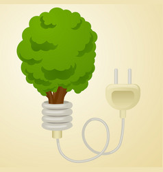 Green energy metaphor cartoon vector