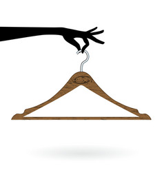Hand hold hanger vector