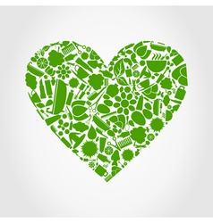 Heart spa vector image vector image