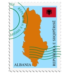 mail to-from Albania vector image vector image