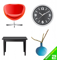 modern furniture vector image
