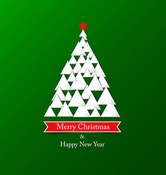 Paper christmas card vector image vector image