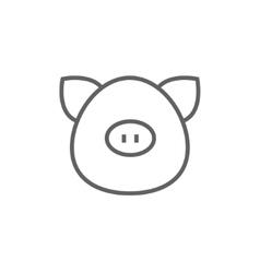 Pig head line icon vector image vector image