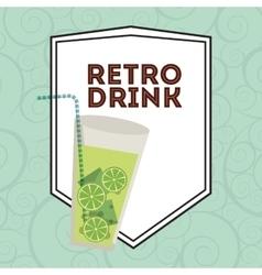 Retro drink vector