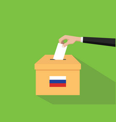 Russia vote election concept with vector