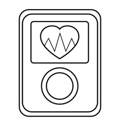 Screen of smart fitness watch icon outline style vector image
