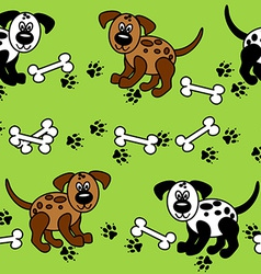 Seamless dogs and bones borders vector