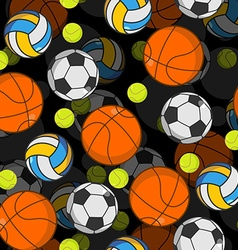 Sports ball 3d seamless pattern balls decoration vector