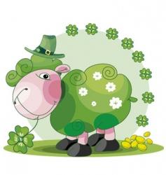 St patrick's sheep vector