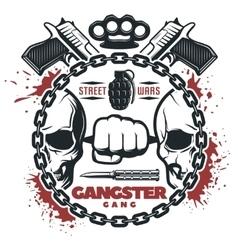 Street gang wars print vector