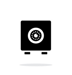 Strongbox icon on white background vector image