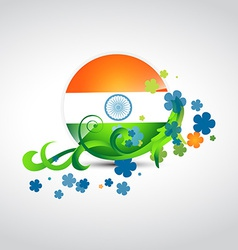 Stylish indian flag design vector