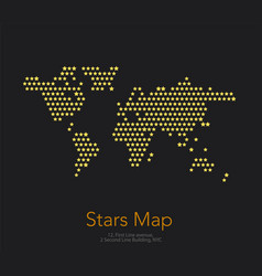 World map with squares rectangles for royalty free vector world map with stars for business templates vector image vector image gumiabroncs Images