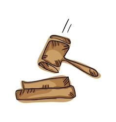 Law gavel symbol vector