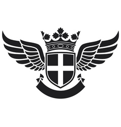 Wings -coat of arms vector
