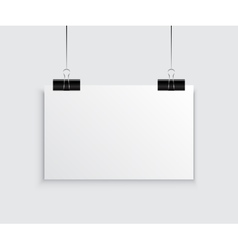 White Empty Poster Template vector image