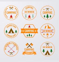 set of logos vector image