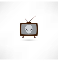 Science fiction on tv vector