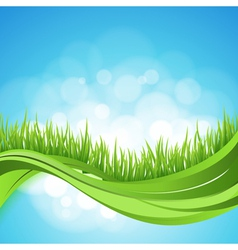 Nature ackground abstract backdrop with green gra vector
