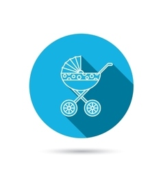 Pram icon newborn stroller sign vector