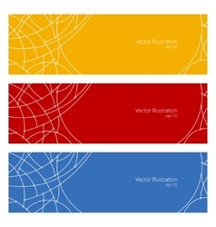 Banners with Geometric Pattern of Curves vector image