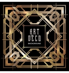 Abstract copper art deco style background vector