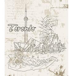 toronto doodles vector image