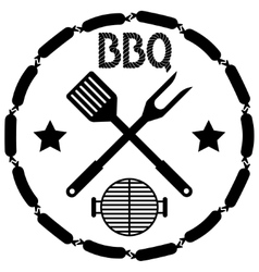 Style bbq barbecue menu stamp vector