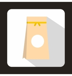 Tea packed in a paper bag icon flat style vector