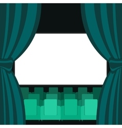 Abstract cinema flat background vector