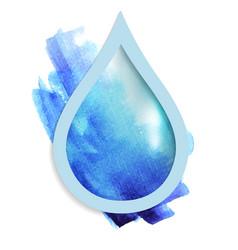 beautiful blue drop vector image