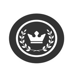 Best award label Laurel wreath and crown success vector image vector image