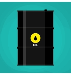Black metal oil barrel with logo icon vector