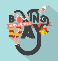 Boxing day typography design vector