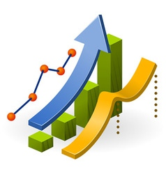 Business performance chart vector