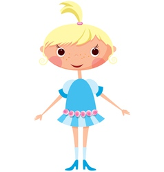 Cartoon little girl eps10 contains transparent obj vector