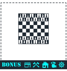 Chess icon flat vector image
