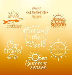 Different vacation nad travel labels logos vector