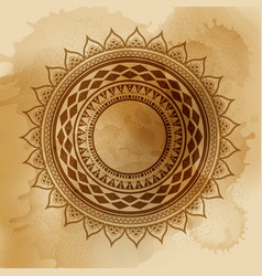 Geometric mandala element made in vintage vector